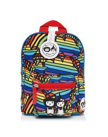 Zip & Zoe Plecak Mini ze Smyczą Rainbow