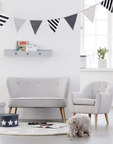 Kids Concept Sofa Grey