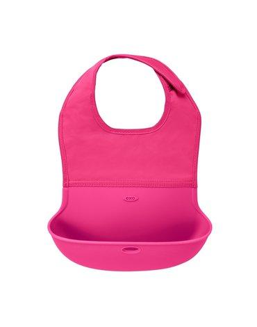 OXO Śliniak Zwijany Pink