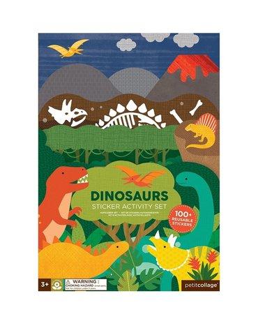 Petit Collage Naklejki z Planszą Dinozaur