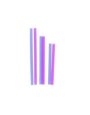 Silikids Słomki Silikonowe Cobalt/Berry