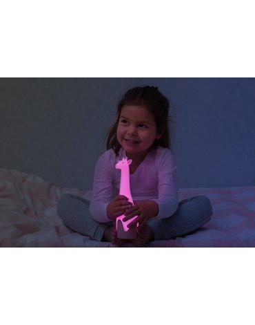 Zazu Kids - Zazu GINA Lampka z Latarką Żyrafa Pink