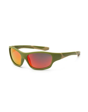 KOOLSUN Okulary SPORT Army Green 3-8 lat
