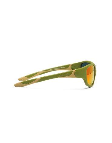KOOLSUN Okulary SPORT Army Green 6-12 lat